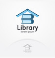 library logo design vector image vector image