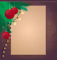 merry christmas and happy new year old vintage vector image vector image