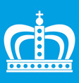 monarchy crown icon white vector image vector image