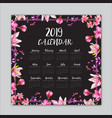 new year calendars vector image