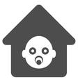Nursery House Flat Icon vector image