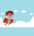 of superhero kid vector image vector image