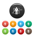 one businessman icons set color vector image