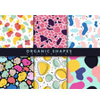 organic shapes seamless pattern abstract color vector image vector image