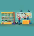 people in tool store cartoon vector image