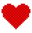 pixelated heart shape icon vector image