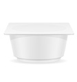 plastic container of yogurt 03 vector image vector image