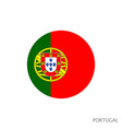 portugal flag vector image vector image