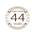 realistic forty four years anniversary celebration vector image vector image