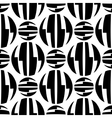Seamless pattern of striped circles optical vector image vector image