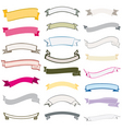 set design ribbons banners vector image