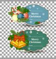 set of tags for gifts for christmas in a tag vector image