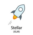 stellar cryptocurrency symbol vector image vector image