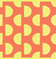 stylized lemon slices seamless pattern red vector image vector image