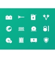 Tools icons on green background vector image