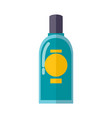 transparent plastic bottle of blue mouth rinse vector image
