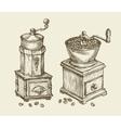 Vintage coffee grinder Hand drawn sketch hot vector image vector image