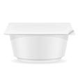 plastic container of yogurt 04 vector image