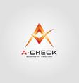 a check - letter a logo vector image