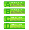 ABCD Options Blocks vector image vector image