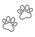 Animal Tracks line icon vector image vector image
