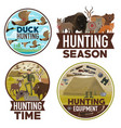 animals hunting open season hunter equipment vector image vector image