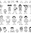 background of different people on beach rest vector image
