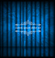 blue abstract curtains and vintage border frame vector image vector image