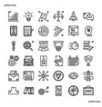 business outline icons perfect pixel vector image vector image
