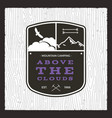 camping adventure monochrome card above the vector image vector image