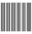 car tire print truck wheel tyre tread patterns vector image vector image