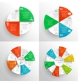 Circle infographics set vector image
