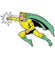 Classic superhero throwing a punch vector image vector image