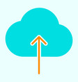 cloud upload line icon simple minimal pictogram vector image vector image