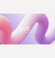 colorful 3d flow shape fluid wave modern flyer vector image vector image