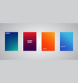 colorful halftone gradients colorful cover vector image