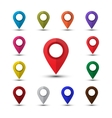 Colorful map pointers vector image vector image