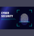 copter internet cyber security background cyber vector image vector image