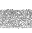 crowd sport fans on stadium vector image vector image