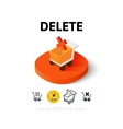 Delete icon in different style vector image vector image