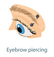 eyebrow piercing icon isometric 3d style vector image