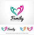 family logo template design vector image