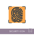 fingerprint icon fingermark symbol vector image