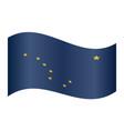 flag of alaska waving on white background vector image vector image