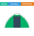 Flat design icon of touristic tent vector image vector image