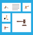 flat icon court set of legal court defense and vector image vector image