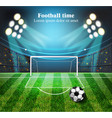 football field realistic football gates vector image