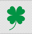 four leaf clover icon clover silhouette simple vector image vector image