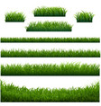 green grass frame with white background vector image vector image