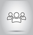 group of people icon in line style on isolated vector image